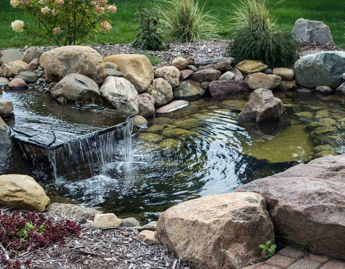 Water Features - Lotus Gardenscapes |Gentle Waterfall Pond