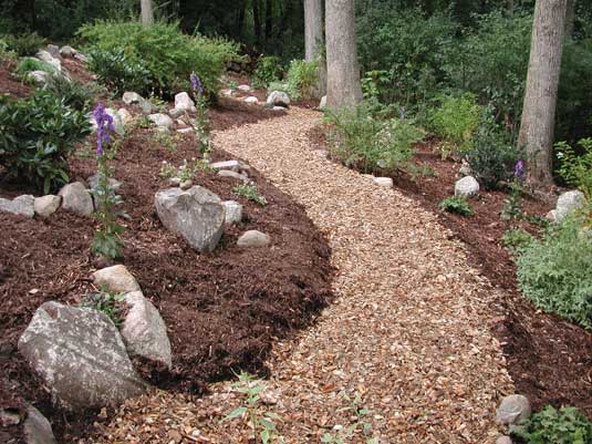 Lotus Gardenscapes -- Gardens -- Quiet Wooded Path -- horticultural maintenance