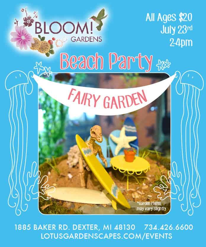 Beach Party Fairy Garden Workshop - Lotus Gardenscapes