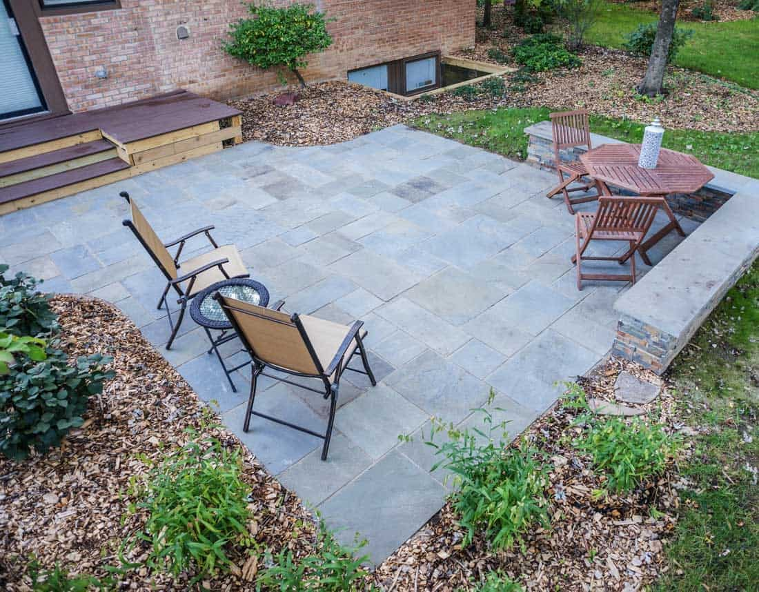 Lotus Gardenscapes -- Contemporary Courtyard and Patio -- Stone Patio -- Stone, Wood