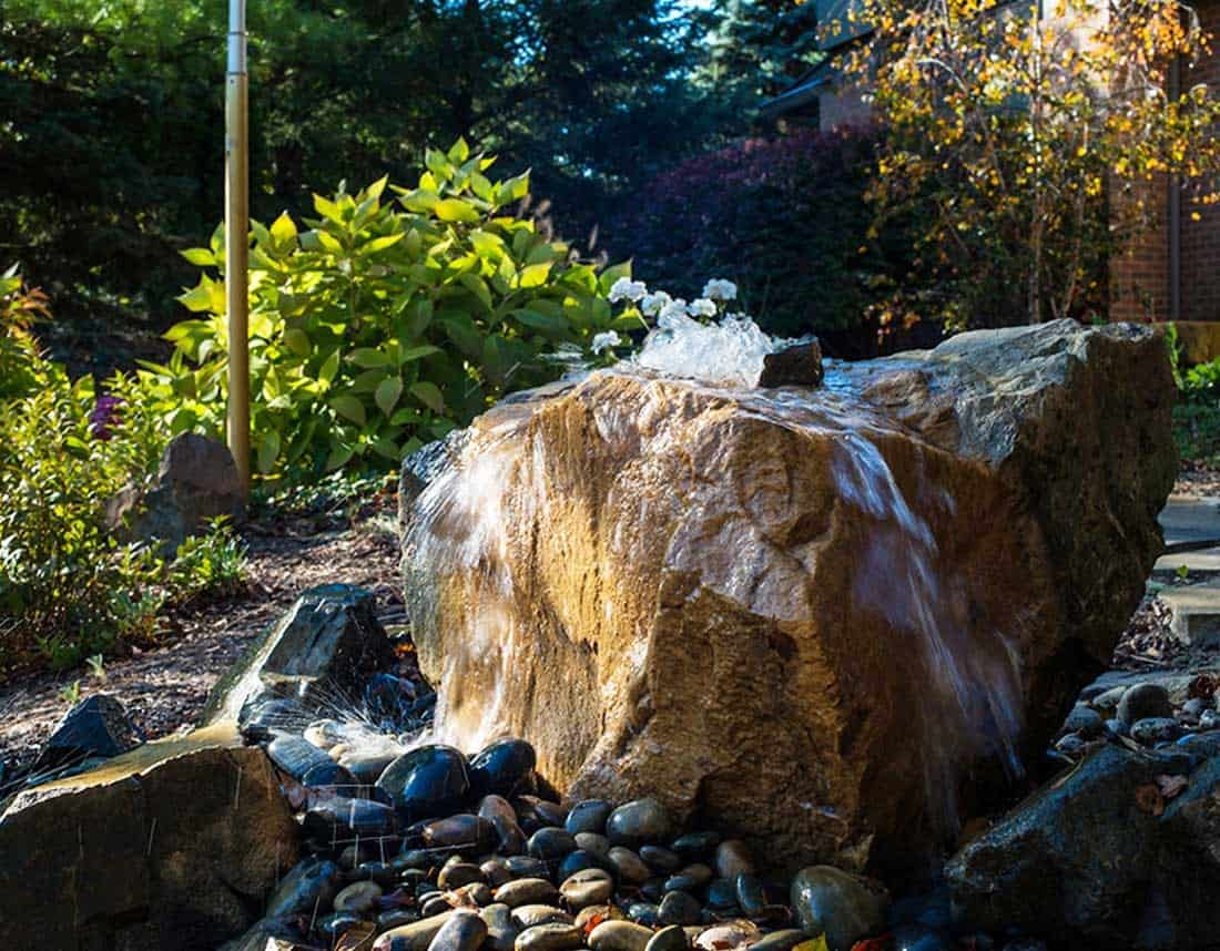 Lotus Gardenscapes -- Water Features -- Natural Rock Water Fountain