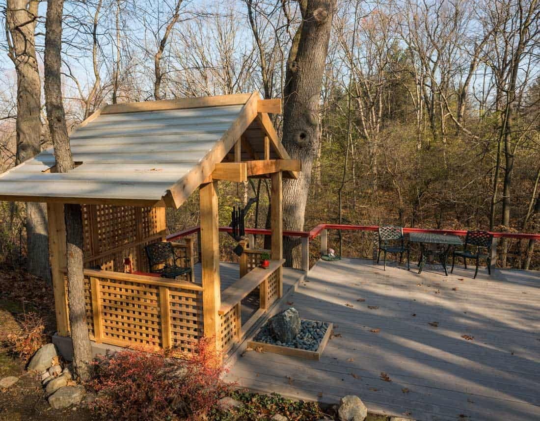 Lotus Gardenscapes -- Art & Sculpture -- Japanese Teahouse, Wide Angle -- Stone, Wood