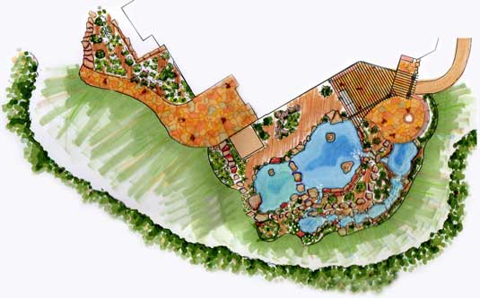 Lotus Gardenscapes -- Landscape Architecture & Design -- Landscape Plan Rendering