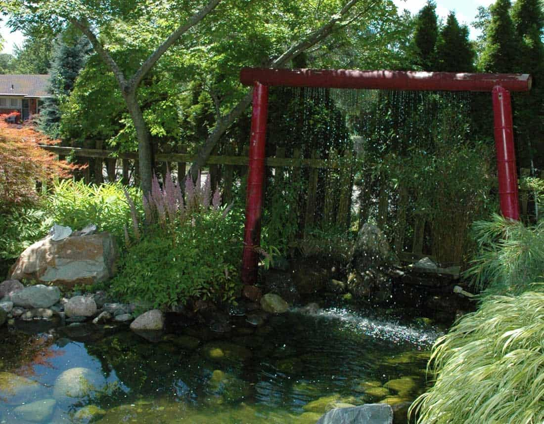 Lotus Gardenscapes -- Water Features -- Zen Bamboo Gate Water Fountain