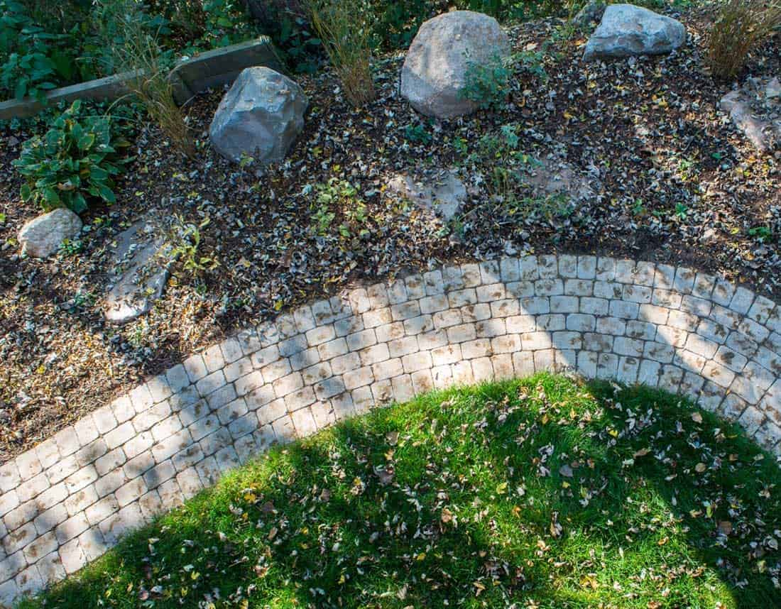 Lotus Gardenscapes -- A Potter's Playground -- Stone Path, Aerial View -- Stone, Wood