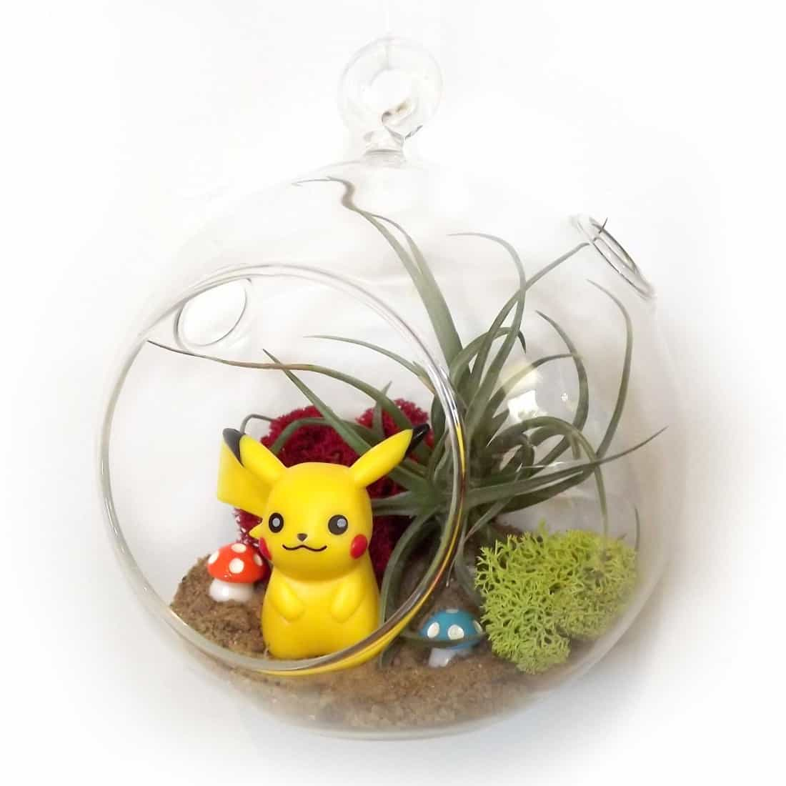 Pikachu,fairy garden,workshop,terrarium