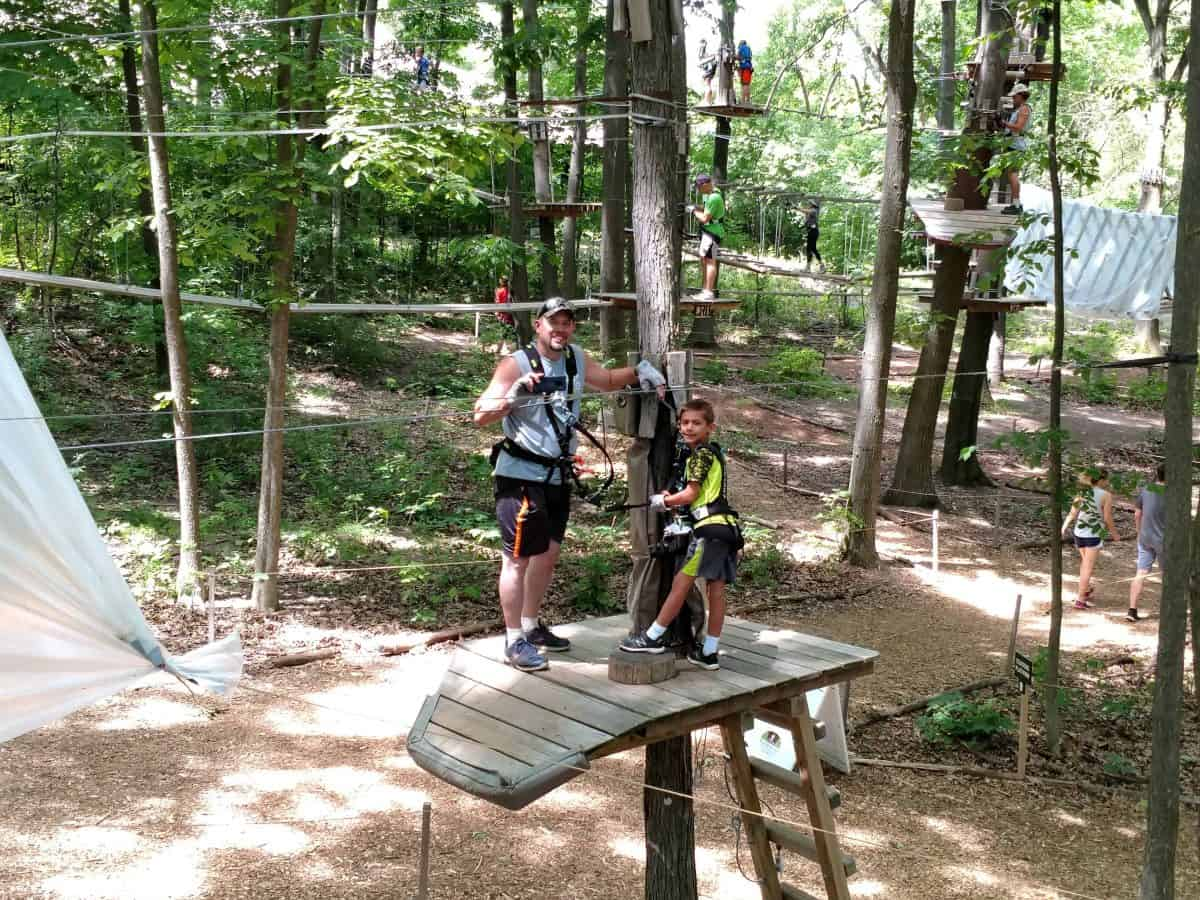 Lotus Ropes course employee outing